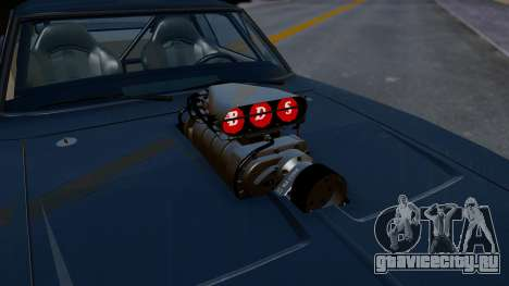 Dodge Charger from FnF4 для GTA San Andreas вид сзади