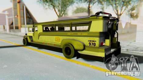 LGS Motors Eggtype Jeepney для GTA San Andreas вид слева