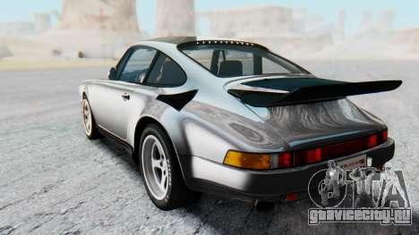RUF CTR Yellowbird 1987 v1.1 Another Edition для GTA San Andreas вид сзади слева