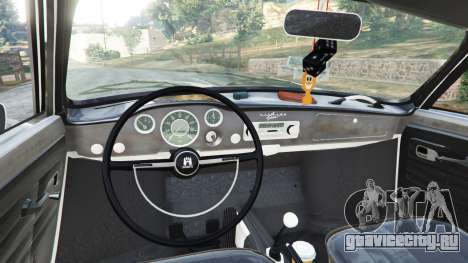 Volkswagen Karmann-Ghia Typ 14 1967 для GTA 5 вид сзади справа