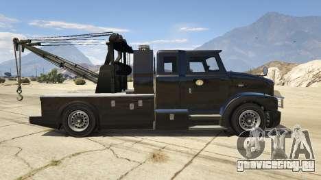 Police Towtruck для GTA 5 вид слева