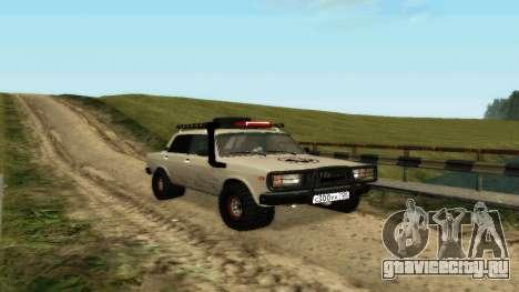 ВАЗ 2107 4х4 для GTA San Andreas вид слева