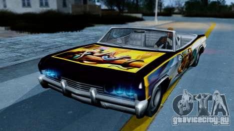 Slamvan New PJ для GTA San Andreas вид слева
