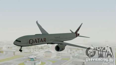 Boeing 777-9x Qatar Airways для GTA San Andreas вид сзади слева