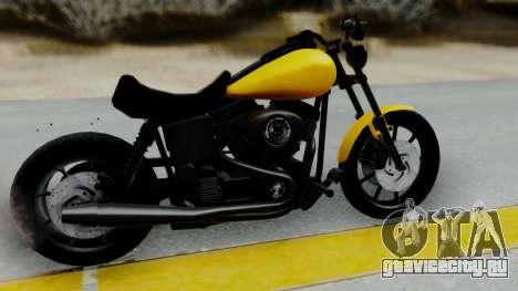 Harley-Davidson Dyna Super Glide T-Sport 1999 для GTA San Andreas вид сзади слева