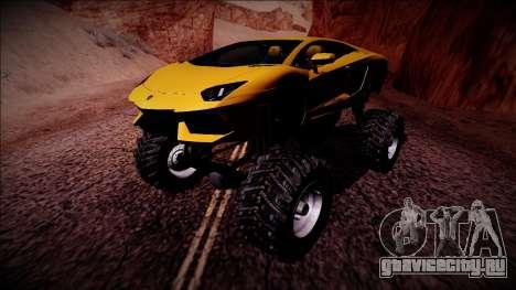 Lamborghini Aventador Monster Truck для GTA San Andreas вид слева