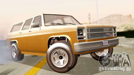 GTA 5 Declasse Rancher XL для GTA San Andreas