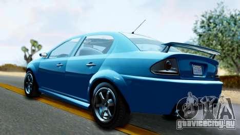 GTA 5 Declasse Premier для GTA San Andreas вид слева