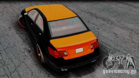 GTA 5 Benefactor Schafter V12 Arm для GTA San Andreas вид сзади слева