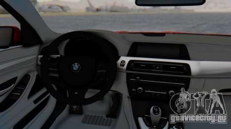 BMW M5 2012 Stance Edition для GTA San Andreas вид сзади