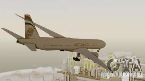 Boeing 777-9x Etihad Airways для GTA San Andreas вид справа