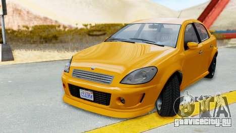GTA 5 Declasse Premier Coupe для GTA San Andreas вид сзади слева