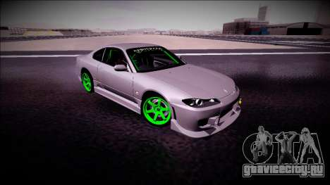 Nissan Silvia S15 Drift Monster Energy для GTA San Andreas вид сзади