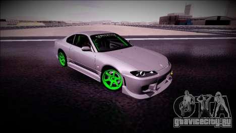 Nissan Silvia S15 Drift Monster Energy для GTA San Andreas вид сзади