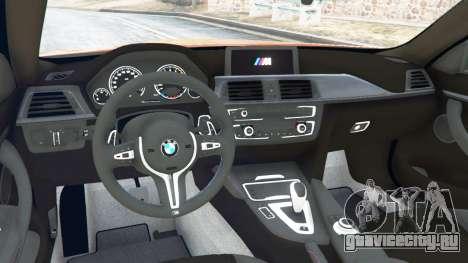 BMW M4 (F82) [LibertyWalk] v1.1 для GTA 5 вид сзади справа