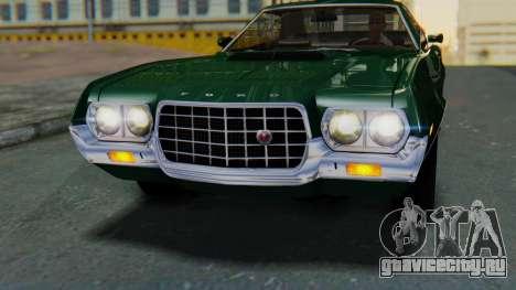 Ford Gran Torino Sport SportsRoof (63R) 1972 IVF для GTA San Andreas вид справа