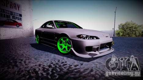 Nissan Silvia S15 Drift Monster Energy для GTA San Andreas вид справа
