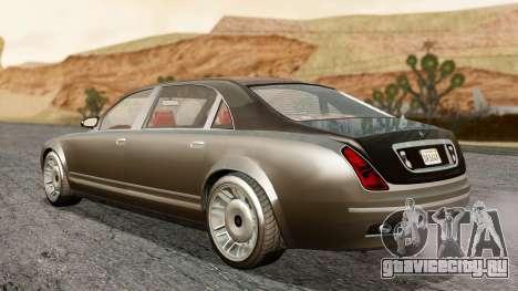 GTA 5 Enus Cognoscenti L IVF для GTA San Andreas вид сзади слева