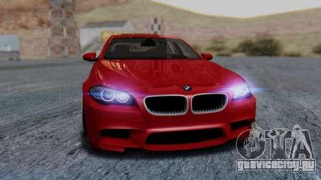 BMW M5 2012 Stance Edition для GTA San Andreas вид сверху