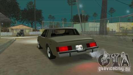 Willard Majestic для GTA San Andreas вид сзади слева