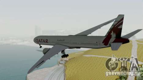 Boeing 777-9x Qatar Airways для GTA San Andreas вид справа