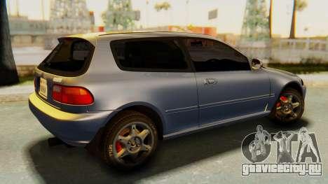 Honda Civic Vti 1994 V1.0 IVF для GTA San Andreas вид слева