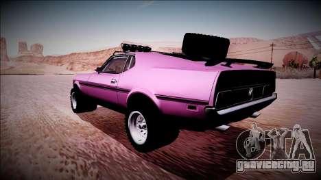 1971 Ford Mustang Rusty Rebel для GTA San Andreas вид слева