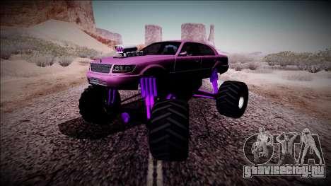 GTA 4 Washington Monster Truck для GTA San Andreas вид изнутри