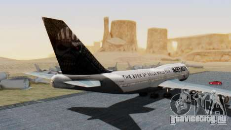 Boeing 747-428 Ed Force One для GTA San Andreas вид слева