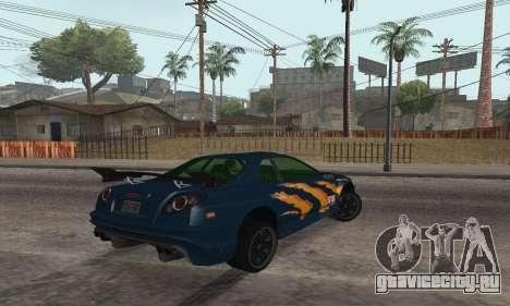 Nissan Skyline R34 Sunray (FlatOut 2) для GTA San Andreas вид слева