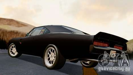 Dodge Charger from FnF4 для GTA San Andreas вид слева