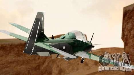 A-29B Embraer Super Tucano для GTA San Andreas вид слева