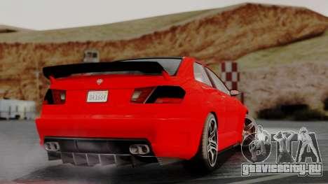 GTA 5 Benefactor Schafter V12 IVF для GTA San Andreas вид слева