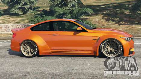 BMW M4 (F82) [LibertyWalk] v1.1 для GTA 5 вид слева