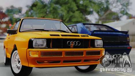 Audi Quattro Coupe 1983 для GTA San Andreas вид снизу