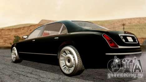 GTA 5 Enus Cognoscenti L для GTA San Andreas вид сзади слева