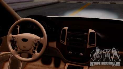 Hyundai Santa Fe для GTA San Andreas вид сзади