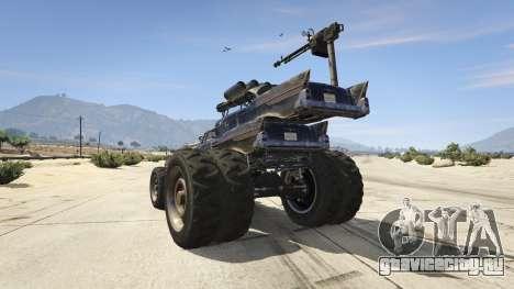 Mad Max The Gigahorse для GTA 5 вид сзади слева