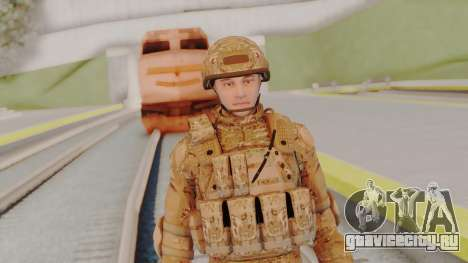 US Army Multicam Soldier from Alpha Protocol для GTA San Andreas