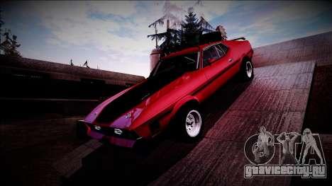 1971 Ford Mustang Rusty Rebel для GTA San Andreas вид сзади