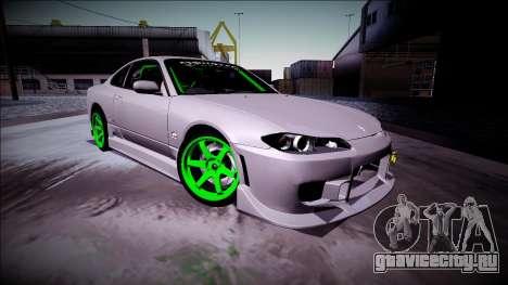 Nissan Silvia S15 Drift Monster Energy для GTA San Andreas вид слева