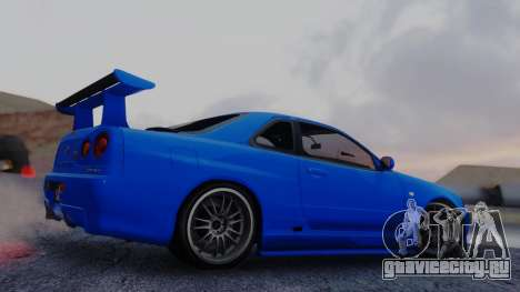 Nissan Skyline R34 Full Tuning для GTA San Andreas вид слева
