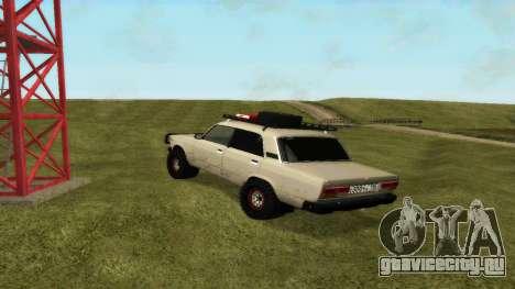 ВАЗ 2107 4х4 для GTA San Andreas вид сзади слева