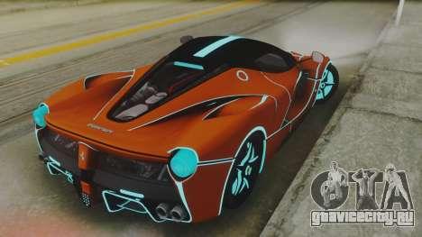 Ferrari LaFerrari TRON Edition v1.0 для GTA San Andreas вид сзади слева