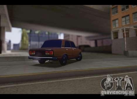 Ваз 2107 Oper для GTA San Andreas вид сзади слева