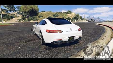 Mercedes-Benz AMG GT 2016 для GTA 5 вид слева