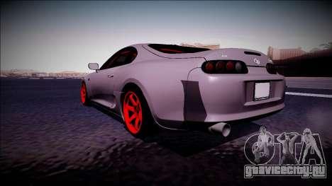 Toyota Supra Drift Monster Energy для GTA San Andreas вид сзади слева