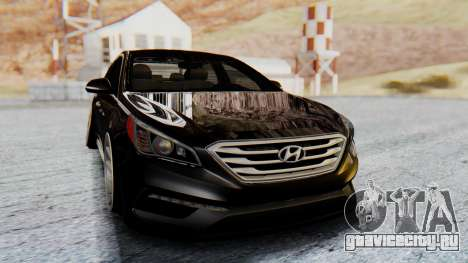 Hyundai Sonata Turbo 2015 для GTA San Andreas вид справа