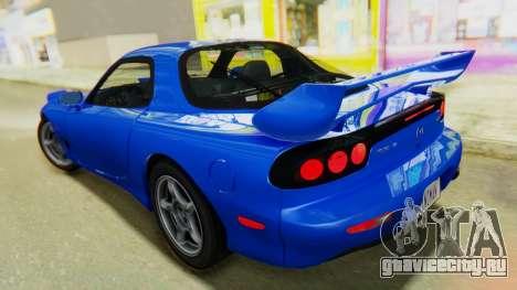 Mazda RX-7 1993 v1.1 для GTA San Andreas вид сзади слева
