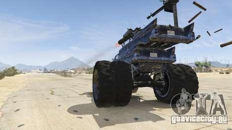 Mad Max The Gigahorse для GTA 5 вид сзади справа
